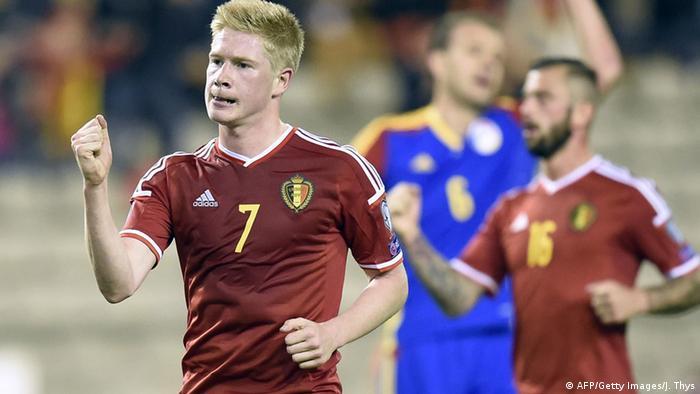 Кевін де Брейне на матчі Бельгія - Андорра