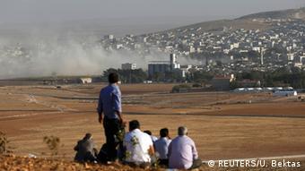 Syrien Türkei Grenze Kämpfe um Kobane 10.10.2014