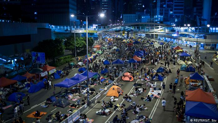 Studentenprotest in Hongkong Occupy Central 11.10.2014