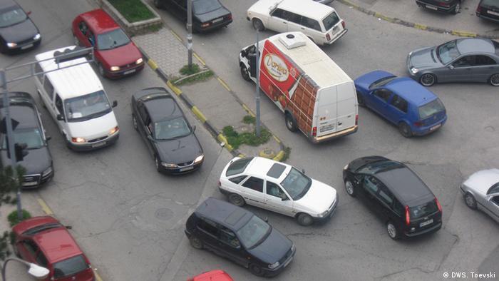 Mazedonien Verkehrschaos in Tetovo (DWS. Toevski)