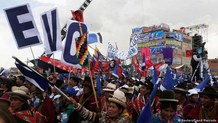 Wahl Bolivien Wahlkampf Evo Morales 08.10.2014