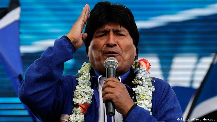 Wahl Bolivien Wahlkampf Evo Morales 08.10.2014 (Reuters/David Mercado)