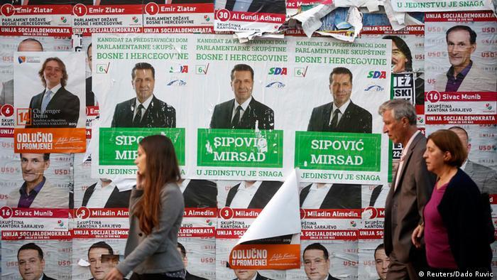 Wahl Bosnien und Herzegowina Wahlkampf 10.10.2014