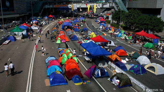 Studentenprotest in Hongkong Occupy Central 12.10.2014