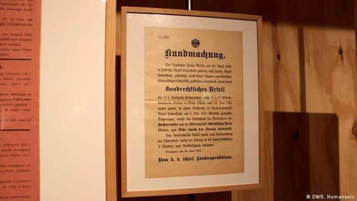 Ausstellung Jubel und Elend Kriegsverbrechen der KuK in Serbien