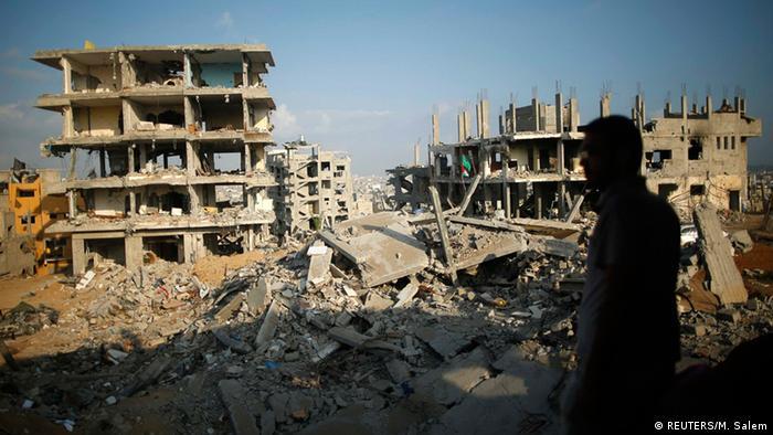 تصویر آرشیوی از جنگ در نوار غزه در سال ۲۰۱۴