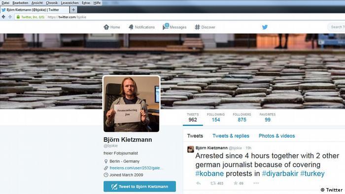 Screenshot des Twitter Accounts von Björn Kietzmann