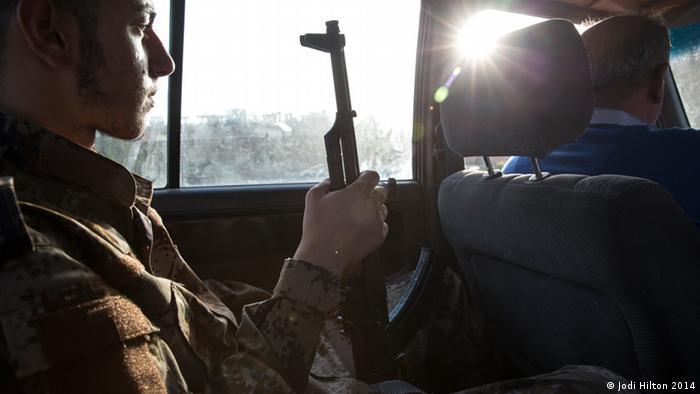 Солдат, воюющий против боевиков Исламского государства