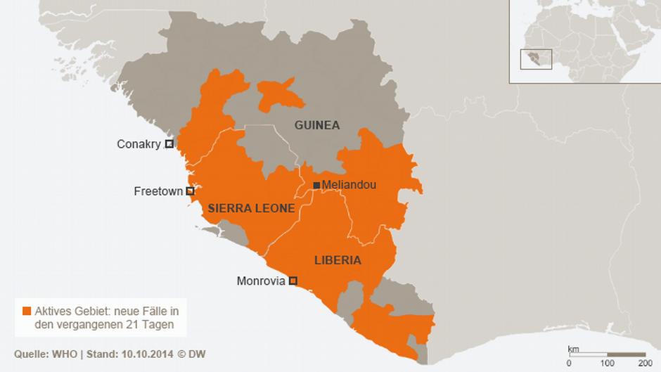 Afrika Karte Deutsch.Ebola Gefährdet Afrikas Tourismusindustrie Afrika Dw 31 10 2014