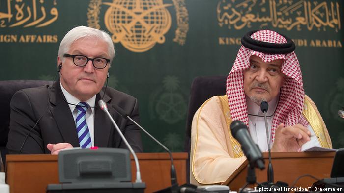 سعود الفیصل و فرانک والتر اشتاینمایر، وزیران خارجه عربستان سعودی و آلمان
