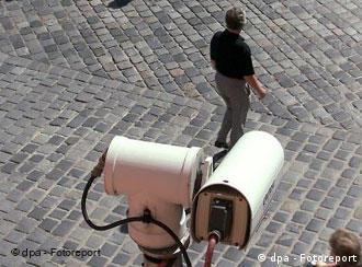 Surveillance cameras in Regensburg, southern Germany