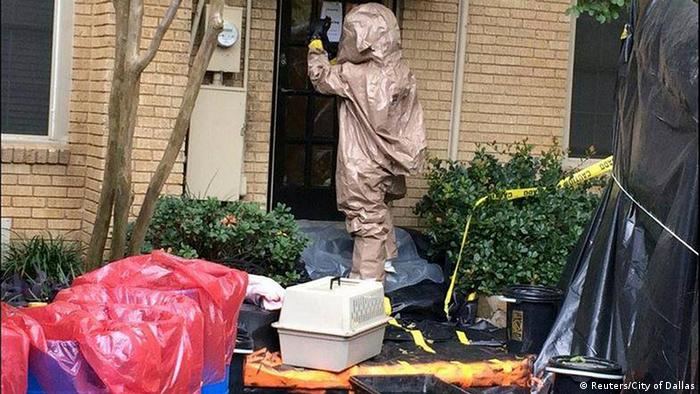 Entrance to the apartment of the Ebola-infected nurse in the US (Photo: Reuters / City of Dallas)
