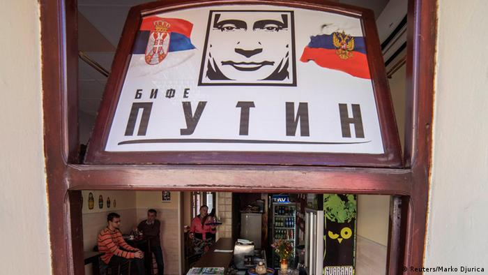 Putin Bar in Novi Sad Serbien