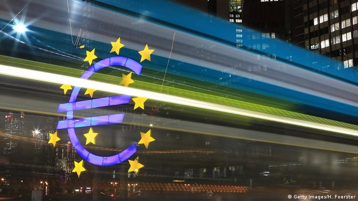 ECB, euro sign (Photo by Hannelore Foerster/Getty Images)