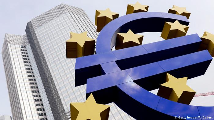The Euro symbol in front of the ECB's former home