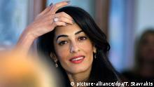 Amal Alamuddin Clooney in Athen