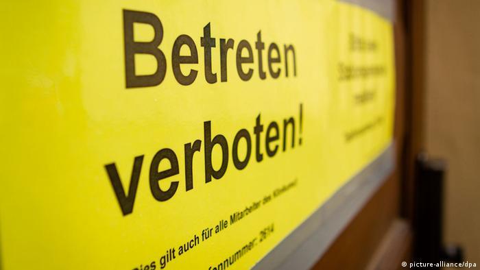 Ebola-Patient in Leipziger Spezialklinik Foto: Klinikum St. Georg/dpa