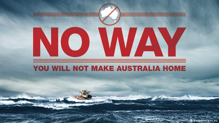 An Australian customs graphic reading No way, you will not make Australia home