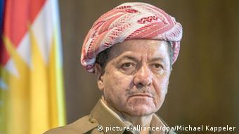 Präsident Kurdische Nationalregierung Masud Barsani (picture-alliance/dpa/Michael Kappeler)