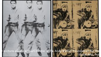 Andy Warhol: Triple Elvis und Four Marlon, Foto: Christie`s/The Andy Warhol Foundation for the Visual Arts, Inc/dpa