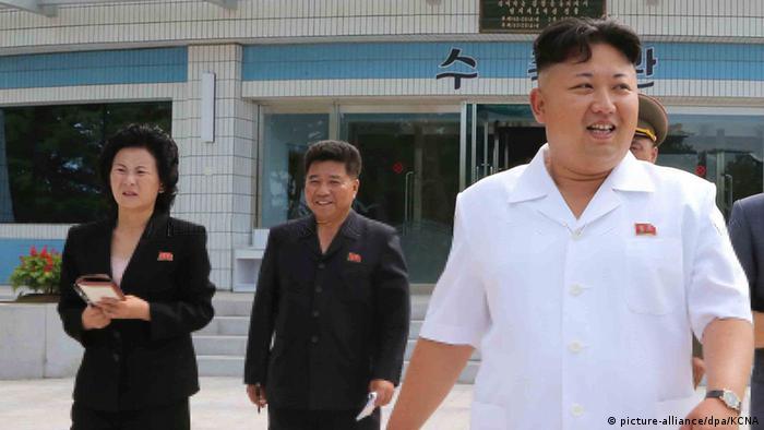 Kim Jong Un mit seiner Schwester Kim Yo-jong Archiv Juli 2014