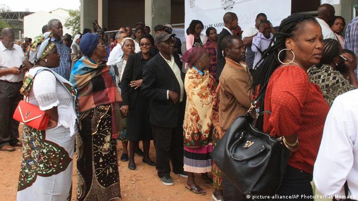 Wahlen Mosambik 15.10.2014 Wähler