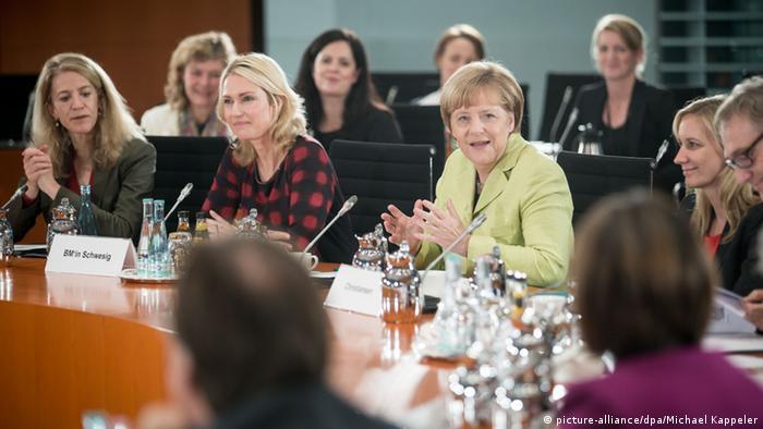 ميركل في مؤتمر خاص لتعزيز دور المرأة في المناصب القيادية (أرشيف)
