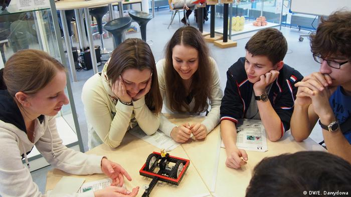 Estudiantes del programa Studienbrücke, del Instituto Goethe.