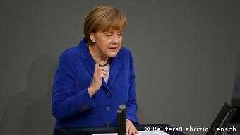 Ангела Меркель в бундестаге 16 октября