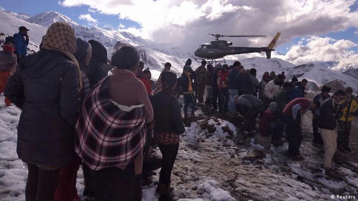 Nepal Opfer von der Lawine