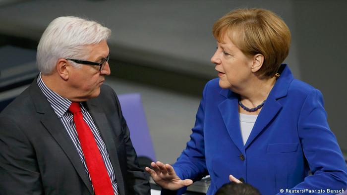 Ангела Меркель и Франк-Вальтер Штайнмайер