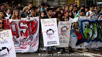 ASEM Gipfel Mailand 16.10.2014 Protest gegen Prayut