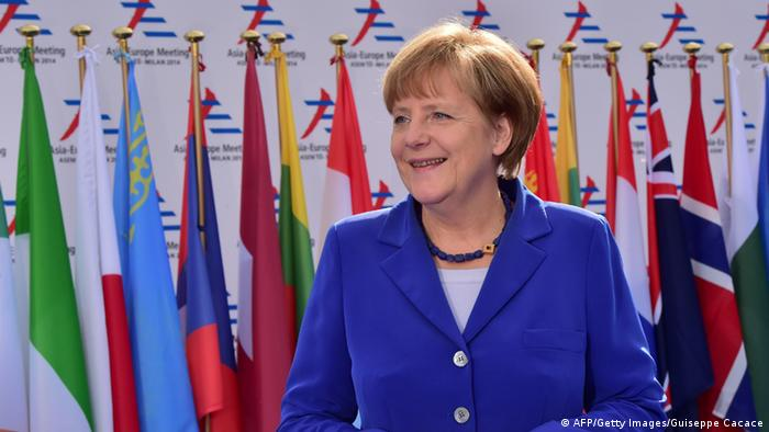Ангела Меркель в Милане
