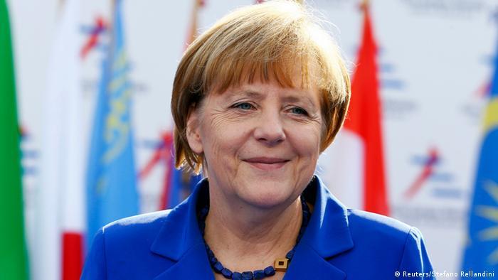 Ангела Меркель на саммите форума ACEM в Милане