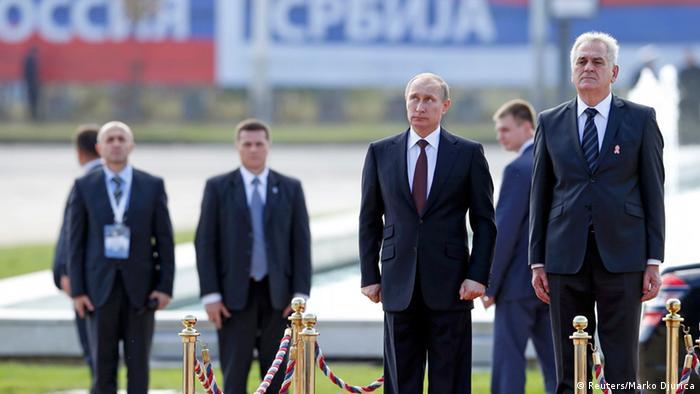 Putin in Belgrad mit Nikolic 16.10.2014