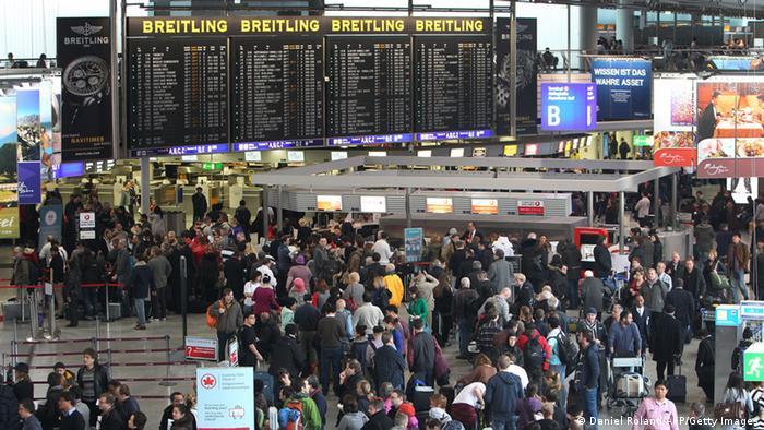 Passengers at Frankfurt Airport