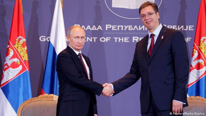 Putin in Belgrad mit Vucic 16.10.2014