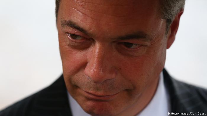 Nigel Farage UKIP Parteichef 13.10.2014 London