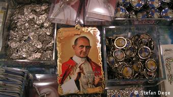 Pope Paul VI in a votive picture