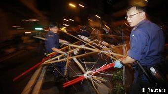 Hongkong / Räumung Barrikaden / Mongkok