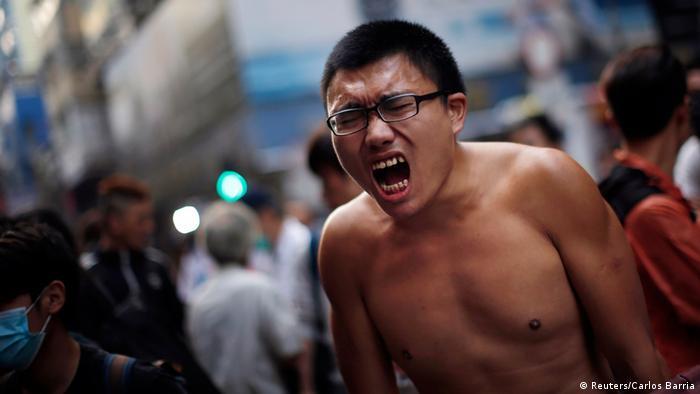 Proteste in Hongkong 17.10.2014
