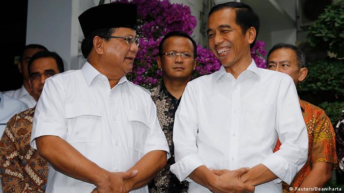 Indonesien Treffen Prabowo Subianto mit Präsident Joko Widodo in Jakarta