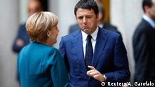 Italien Gipfel UkraineTreffen Angela Merkel und Matteo Renzi in Mailand