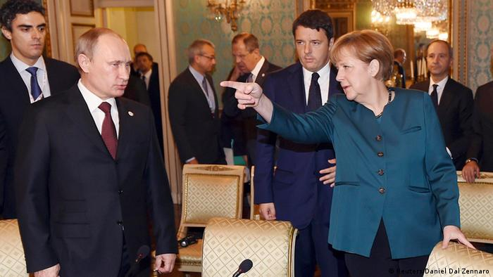 Putin e Poroshenko em Milão: Poucos avanços