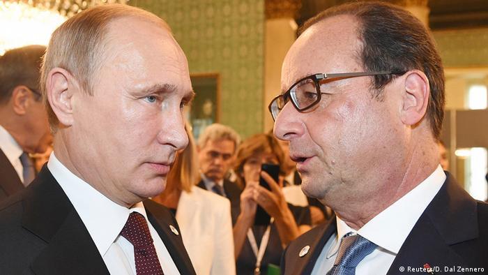 Italien Gipfel Ukraine ASEM Treffen Putin und Francois Hollande