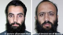 Anis Haqqani und Hafiz Rashid Mitglieder des Haqqani Netzwerks (picture-alliance/AP Photo/National Directorate of Security)