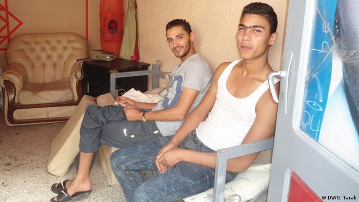 Arbeitslose Jugendliche in Tunesien