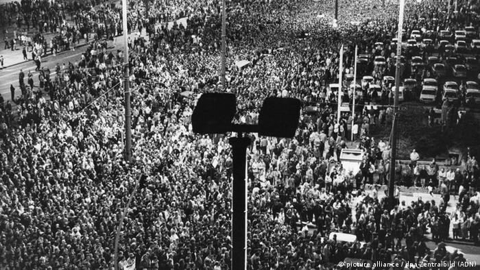 Начало мирной революции в ГДР: демонстрация в Лейпциге 16 октября 1989 года