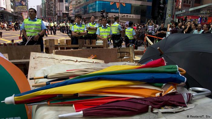 Proteste in Hongkong 18.10.2014