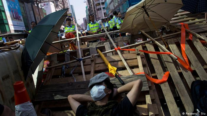 Proteste in Hongkong 18.10.2014
